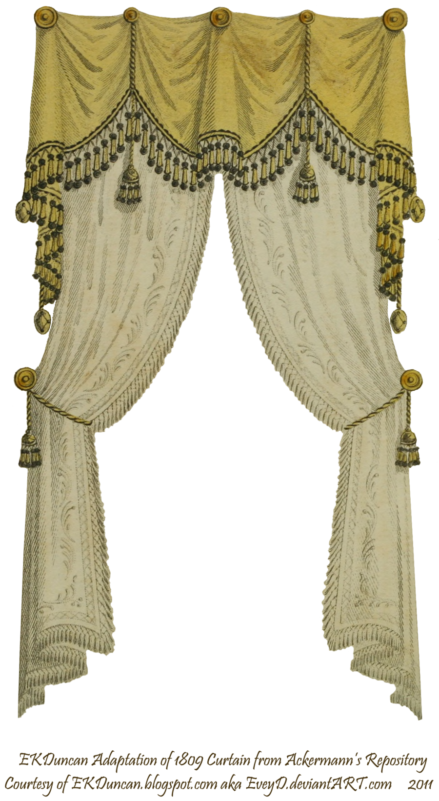 Victorian 1810 Fringe And Tassel Curtain Traditional