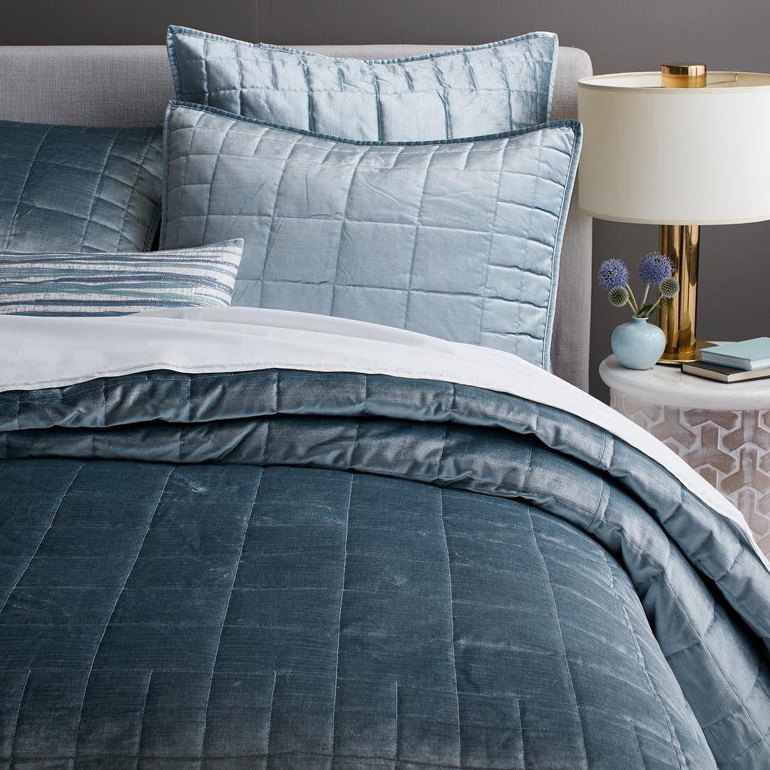 Best Blue Velvet Mywestelm Sweetdreams New Beds Soft 400 x 300