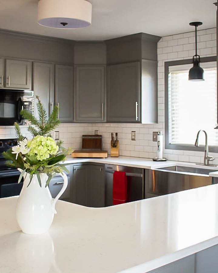 Kitchen before and after reveal builder grade kitchen - Builder grade oak kitchen cabinets ...
