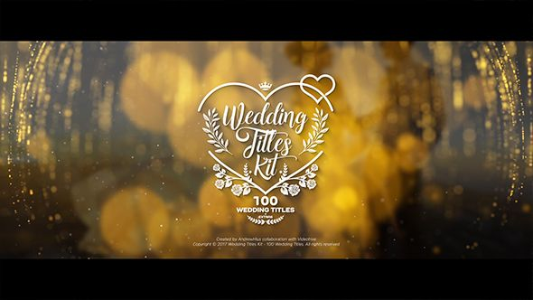 Wedding Titles Kit 100 Titles After Effects Template See It In Action Https Videohive Net Ite Wedding Titles Free Wedding Templates Wedding Templates