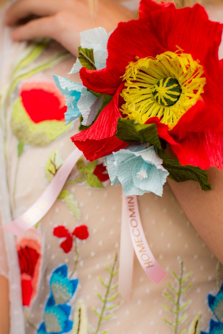 Paper Flower Corsage And Customized Ribbon Flower Corsage Corsage