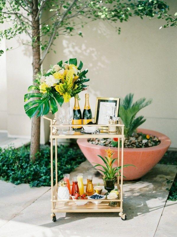 bar cart diy mimosa poolside bridal shower at the four seasons denver couturecolorado wedding colorado wedding blog resource guide