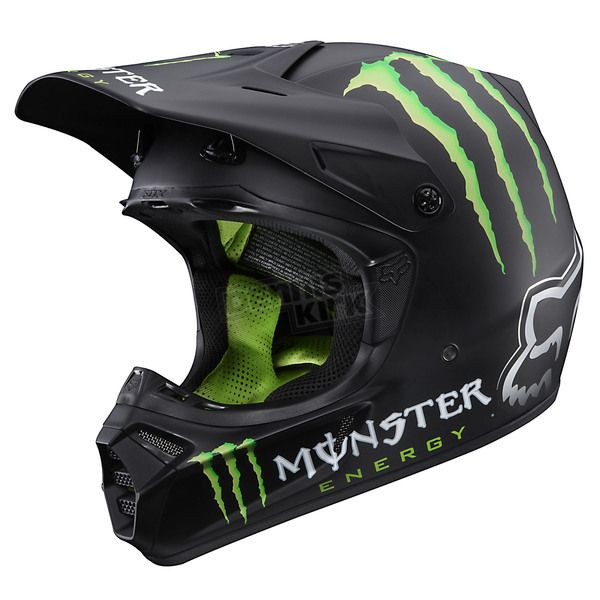 monster energy fox helmet fox racing and monster energy. Black Bedroom Furniture Sets. Home Design Ideas