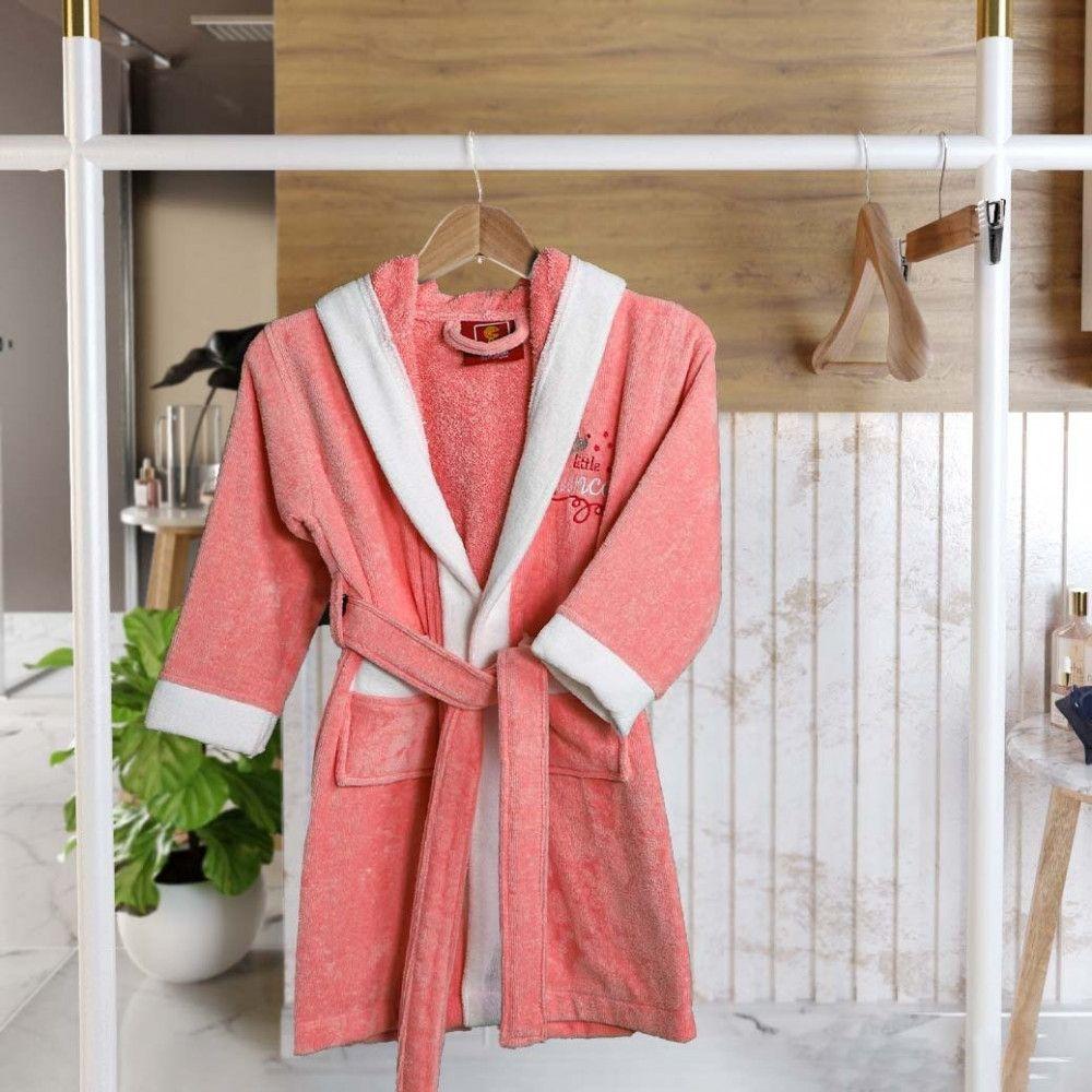 روب إستحمام قطن أطفال بقبعة 5 6 سنة وردي مفارش ميلين In 2021 Robe Fashion