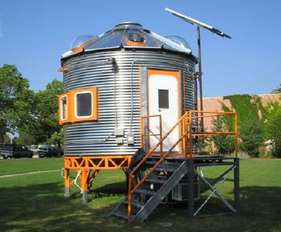 Silo converted into a recording studio see interior below for Barn and silo playhouse