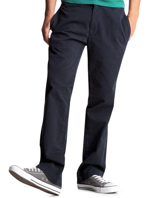 Men s Clothing Men The Gap original khaki pinstriped Casual Pants Pants Gap - Stylehive