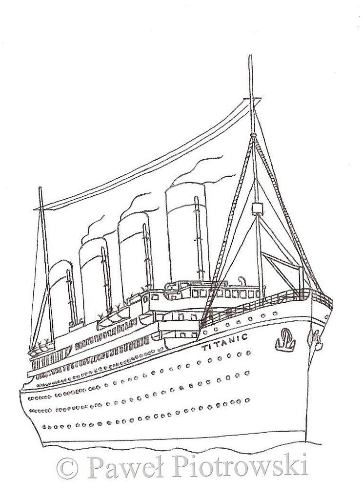 Gi Titanic Colouring Pages Titanic Drawing Titanic Coloring Pages