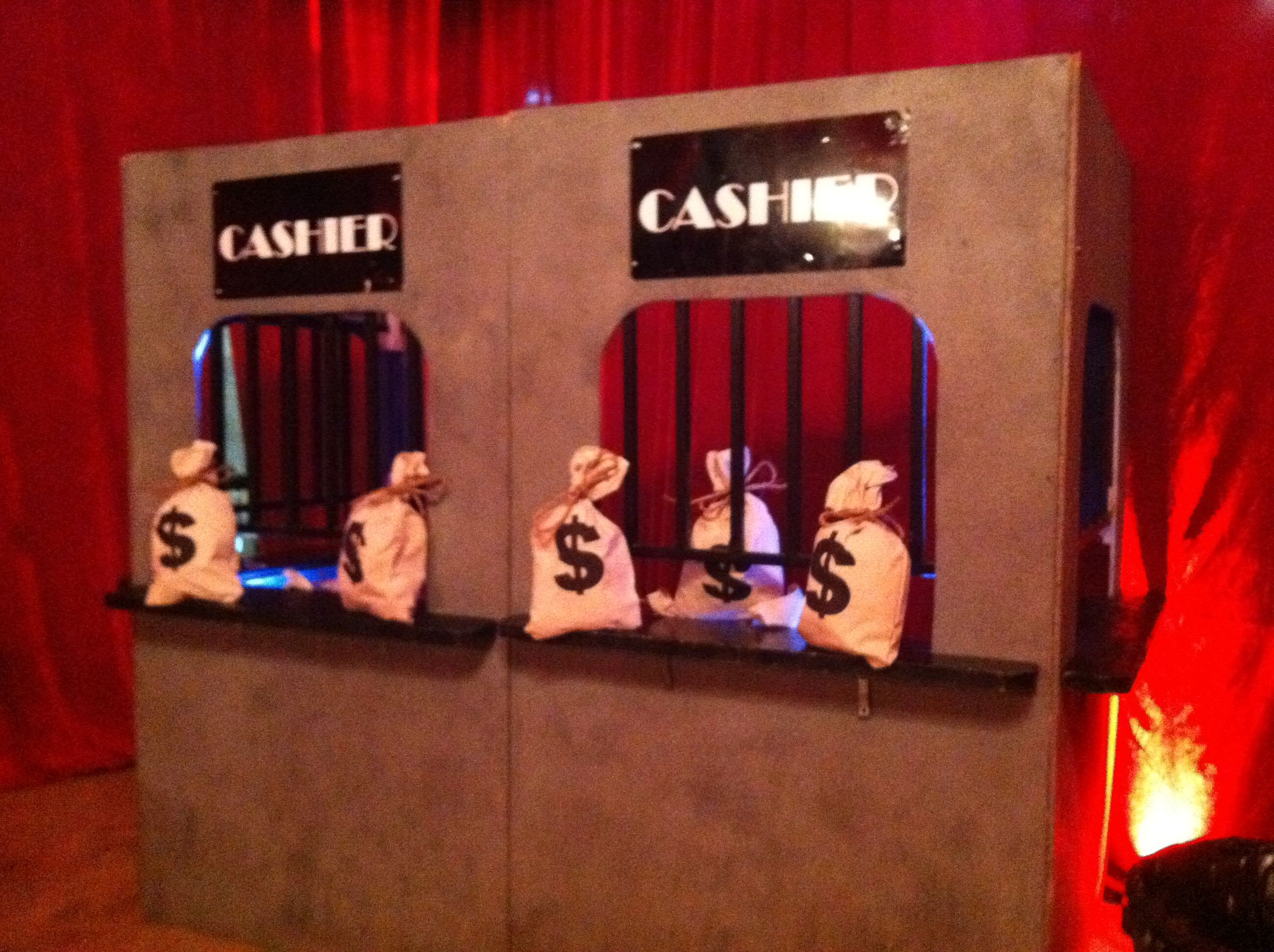 cashier cage prop for casino event  tottevents com in 2019