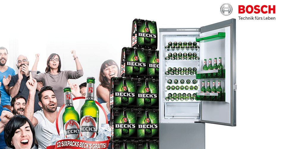 Bosch Kühlschrank Becks : Bosch kühlschrank kaufen sixpack beck s gratis dazu erhalten