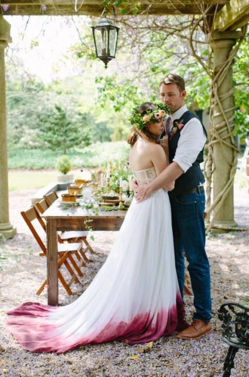 So stylish ist heiraten heute: Dip-Dye Brautkleider sind unser neuer ...