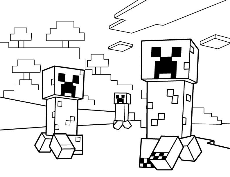 Minecraft Coloring Page Pt9f Creepers Pdf Printable Coloring Page Minecraft Emma 10th B Minecraft Coloring Pages Coloring Pages Transformers Coloring Pages
