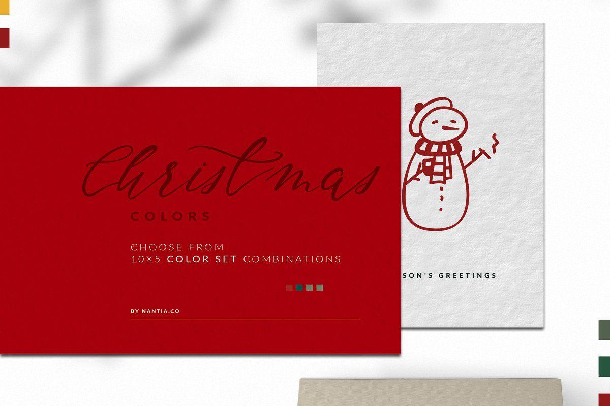Christmas Color Palette Procreate | Christmas color ...