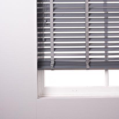 Silvia 50mm Wide Slat Pvc Grey Venetian Blind 120x180cm 5052931000296 Fabric Blinds Teal Kitchen Blinds Blinds Design