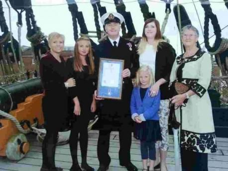 Culdrose warrant officer honoured at Nelson's cabin ceremony (From Falmouth Packet)