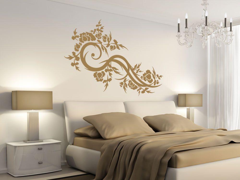 Romantisches Ornament als Wandtattoo fürs Schlafzimmer Wandtattoos - wandtattoo schlafzimmer sprüche