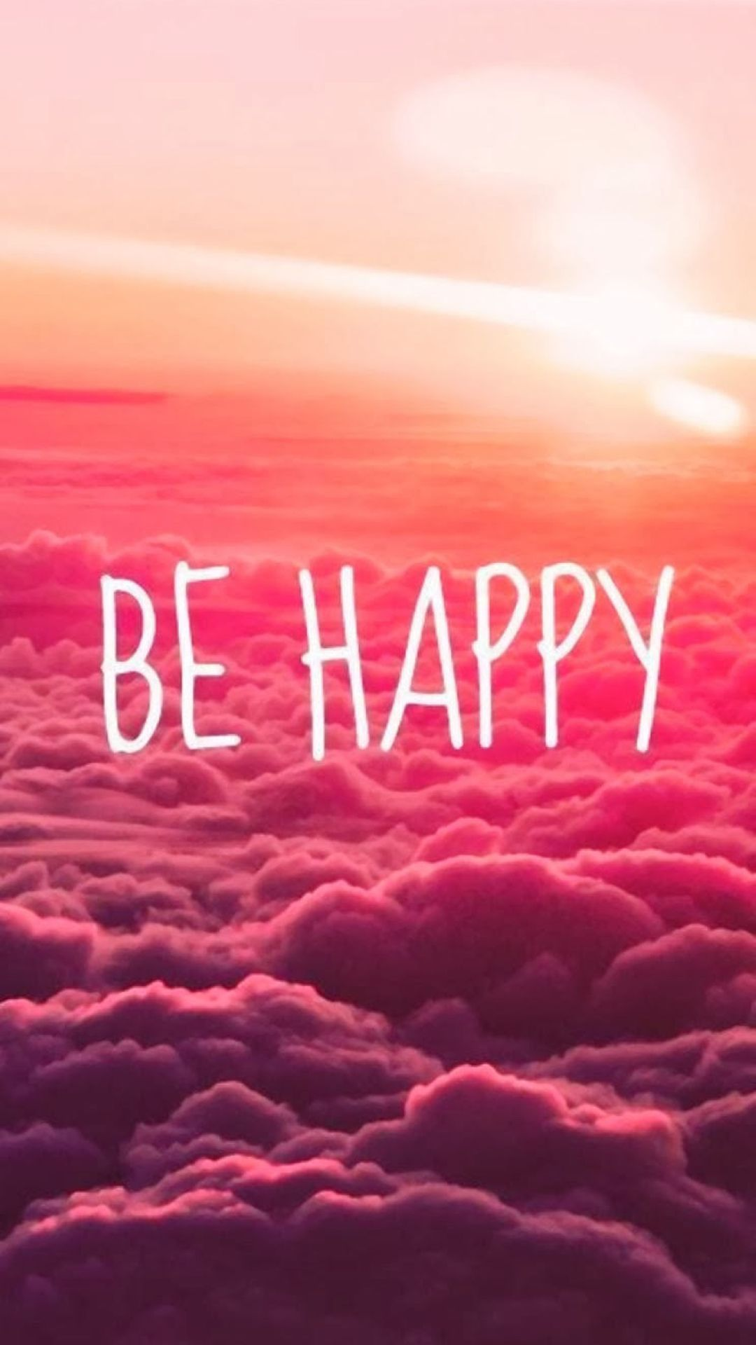 be happy puffy clouds iphone 6 wallpaper iphone wallpapers