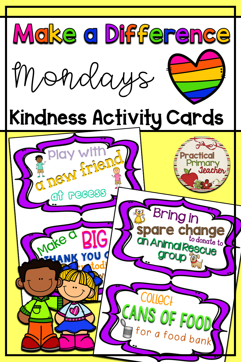 Kindness Activity Cards {FREEBIE}   Practical Primary
