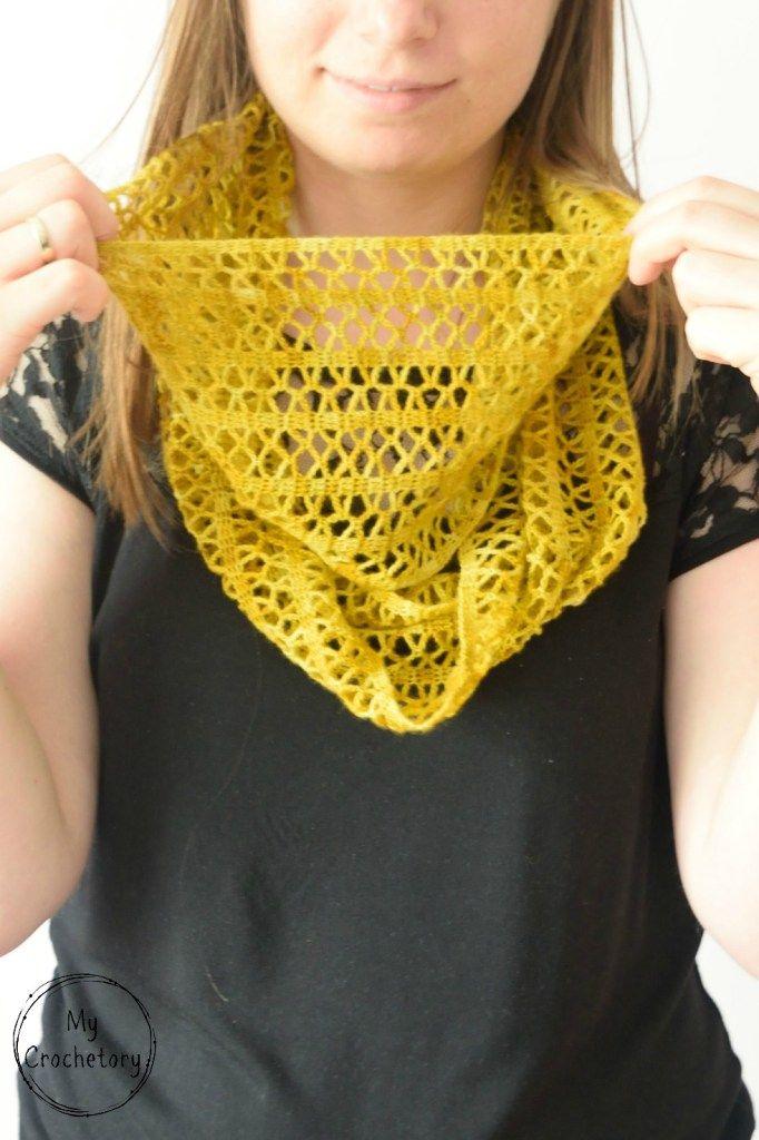 Crochet Sunny Lace Cowl | Crochet wearables | Pinterest | Tejido