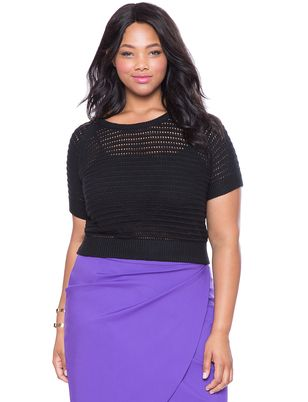 Eloquii Plus Size Open Knit Crop Top Our Open Knit Top Combines A
