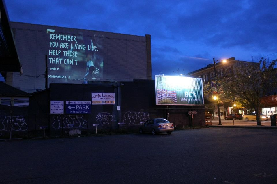 Grind For Kids Night Projections - Make Every Grouse Grind Count For BC Children's Hospital