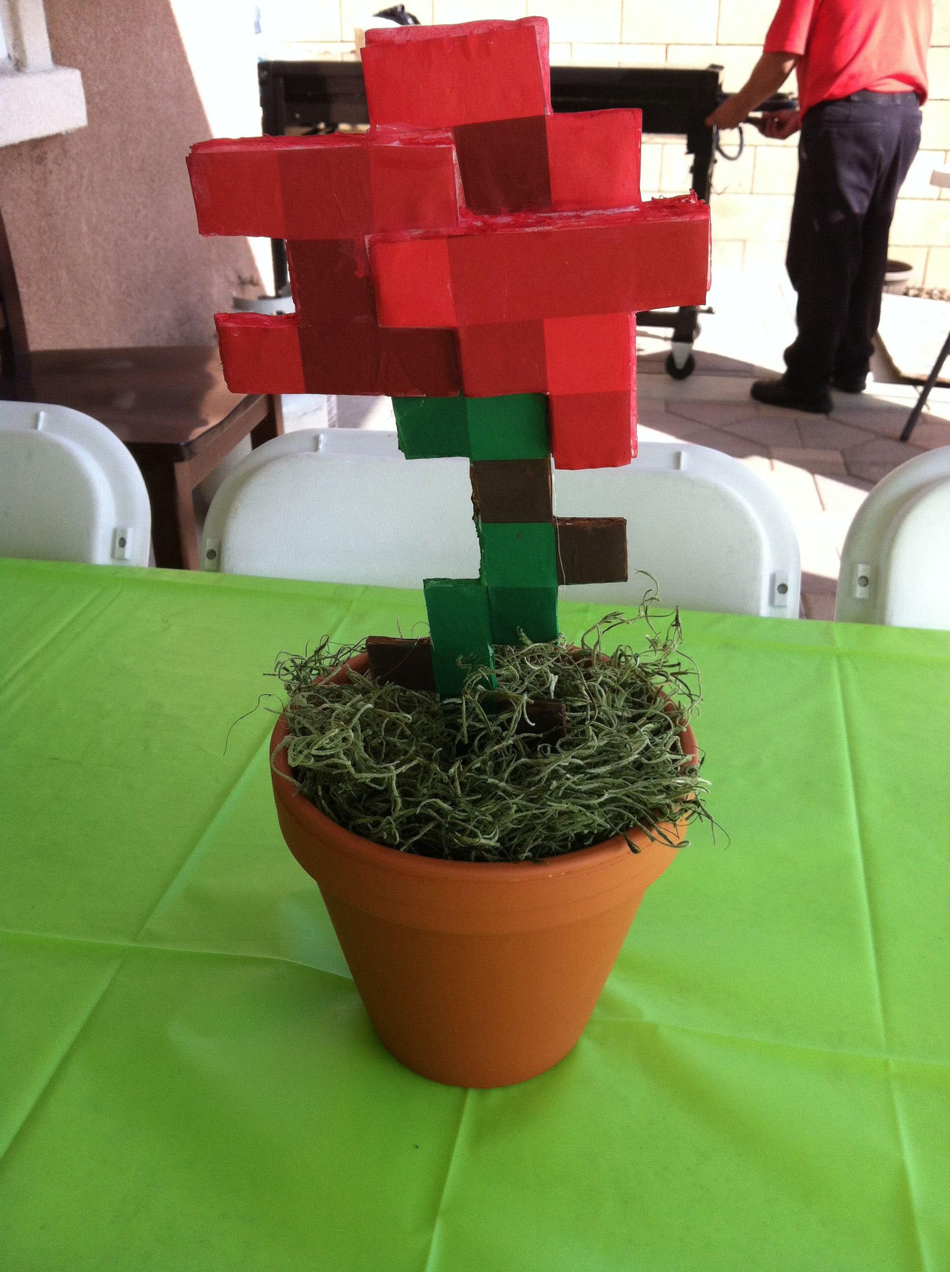 Minecraft rose 3d Minecraft girls party, Minecraft party