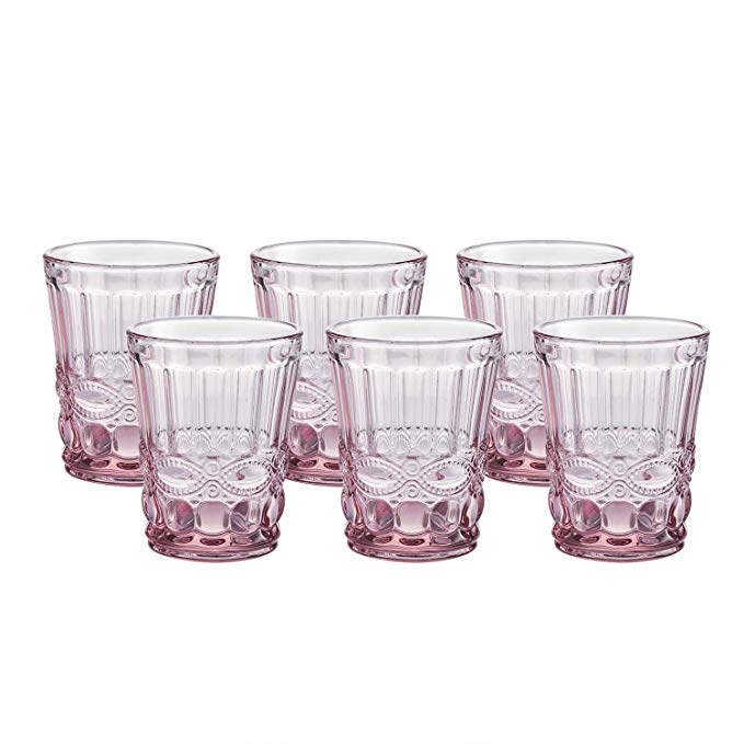 Colored Water Glasses Vintageinspired