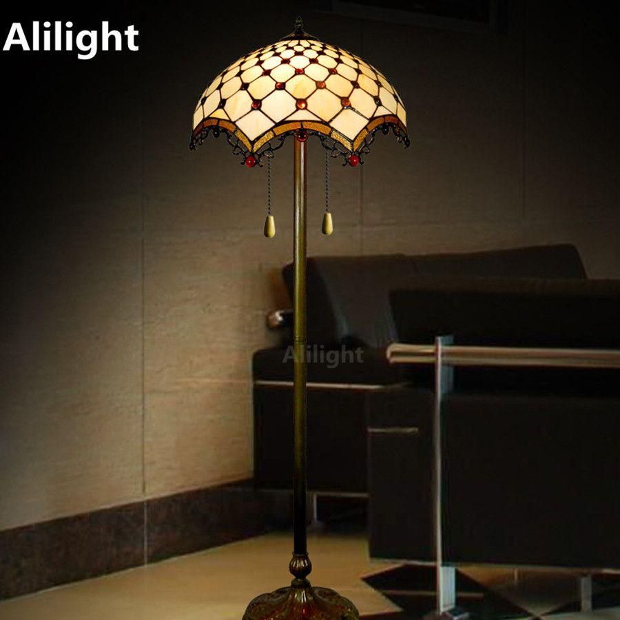 Tiffany Luxe Vloerlamp Retro Floor Licht voor Woonkamer Slaapkamer ...