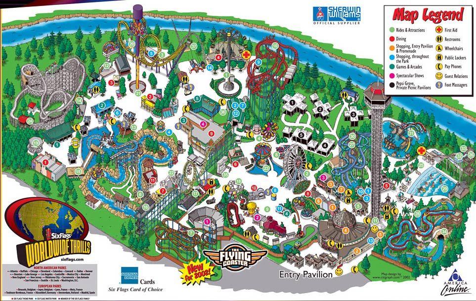 Six Flags Elitch Gardens Six Flags Denver Travel Colorado Travel