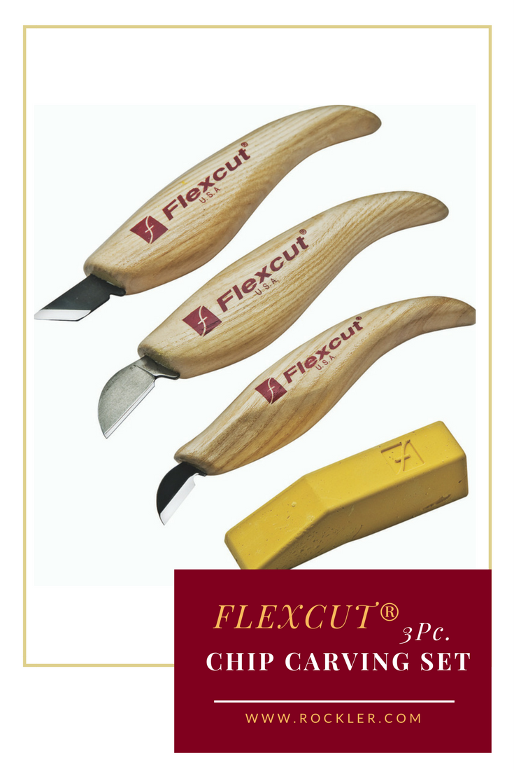 Flexcut 3 Pc Chip Carving Set Woodworking Hand Tools