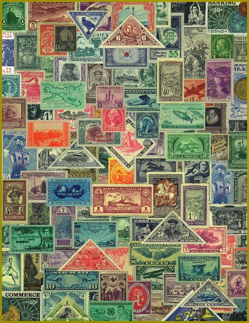 Vintage Stamp Montage — for personal use only!