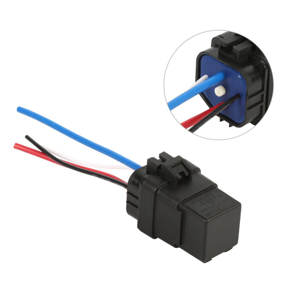12V 40A Waterproof Integrated Wired Car Auto Relay 4pin Socket ...