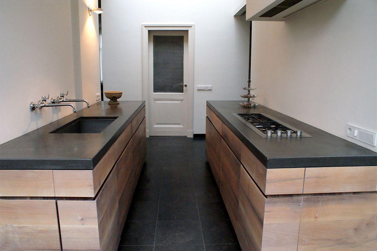 Keukenbladen antraciet beton betonnen aanrechtblad pinterest meer idee n over keuken - Pinterest beton ...