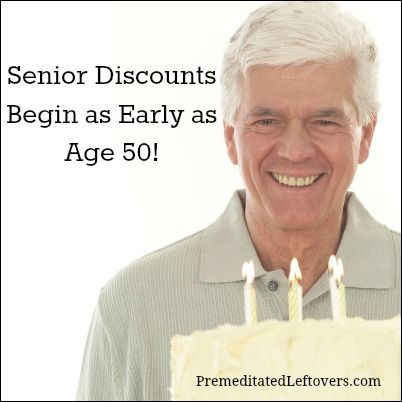 WHAT DISCOUNTS CAN YOU GET AT AGE 50