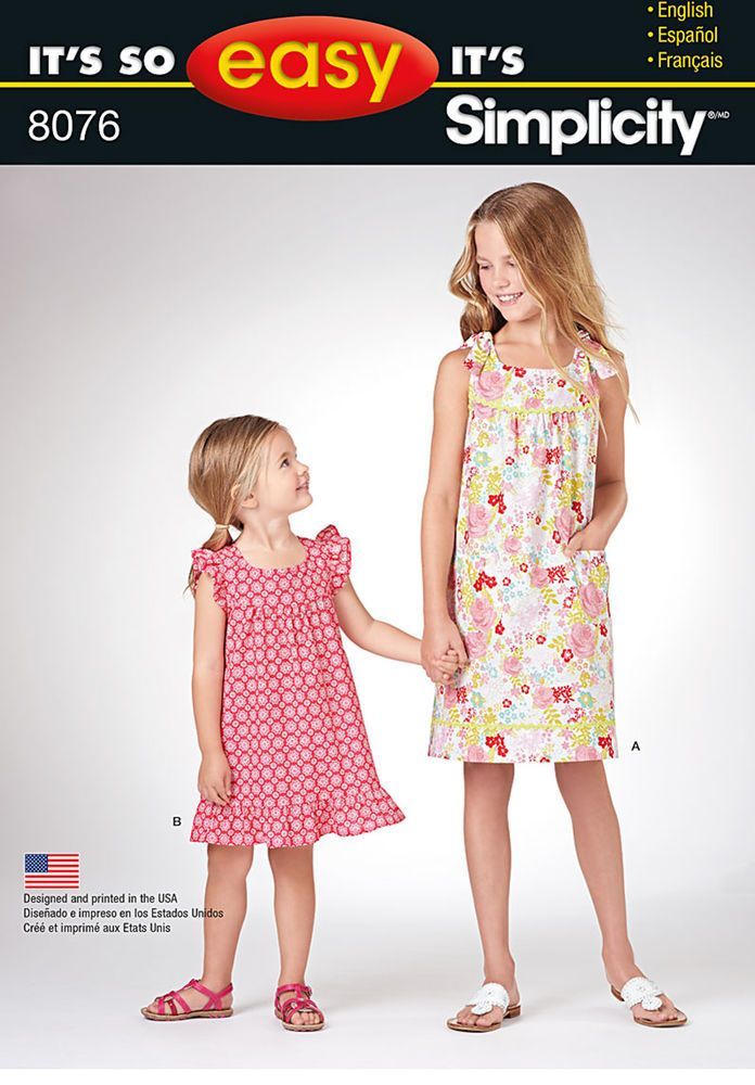 Pattern 8076 It\'s So Easy Dresses for Child and Girl | Kids cloths ...