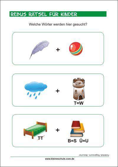 rebus r tsel f r vorschul und grundschulkinder alphabet spielerisch lernen r tsel f r. Black Bedroom Furniture Sets. Home Design Ideas