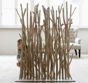Bois flott en s paration de piece ou de jardin - Separation de jardin en bois ...
