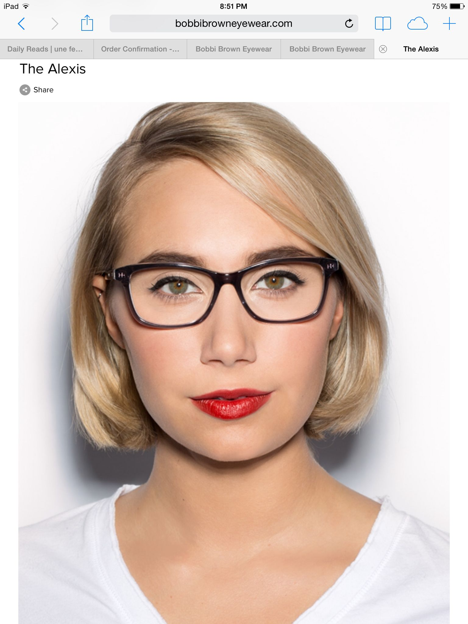 Bobbi Brown Eyewear How to wear makeup, Short hair styles