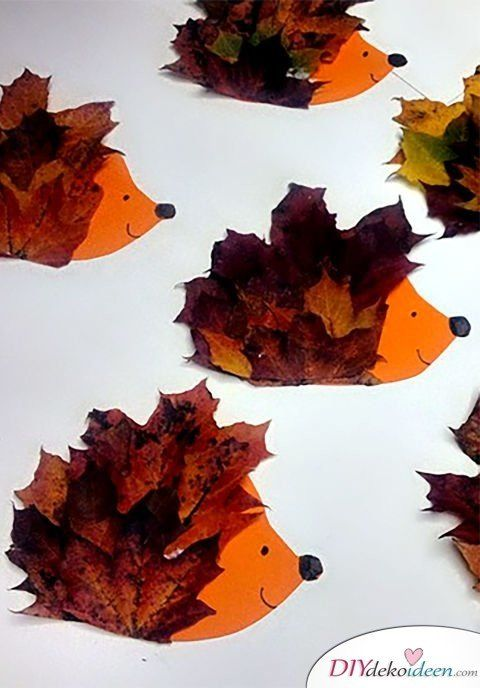 Herbstdeko basteln - Tolle DIY Bastelideen zum Herbstanfang #herbstbastelnmitkindern