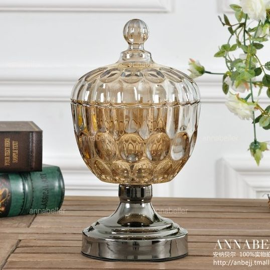 European glass candy jar with lid cans fruit compote storage tanks creative home decoration glass fruit jar - eBoxTao, English TaoBao Agent, Purchase Agent. покупка агент