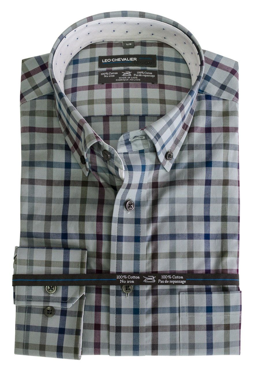 Now Available At The Abbey Classic Mens 100 Check It Out Here Http Theabbeycollection Ca Products Classic Mens 100 Cotton No Iron Plaid Sport Shirt With B