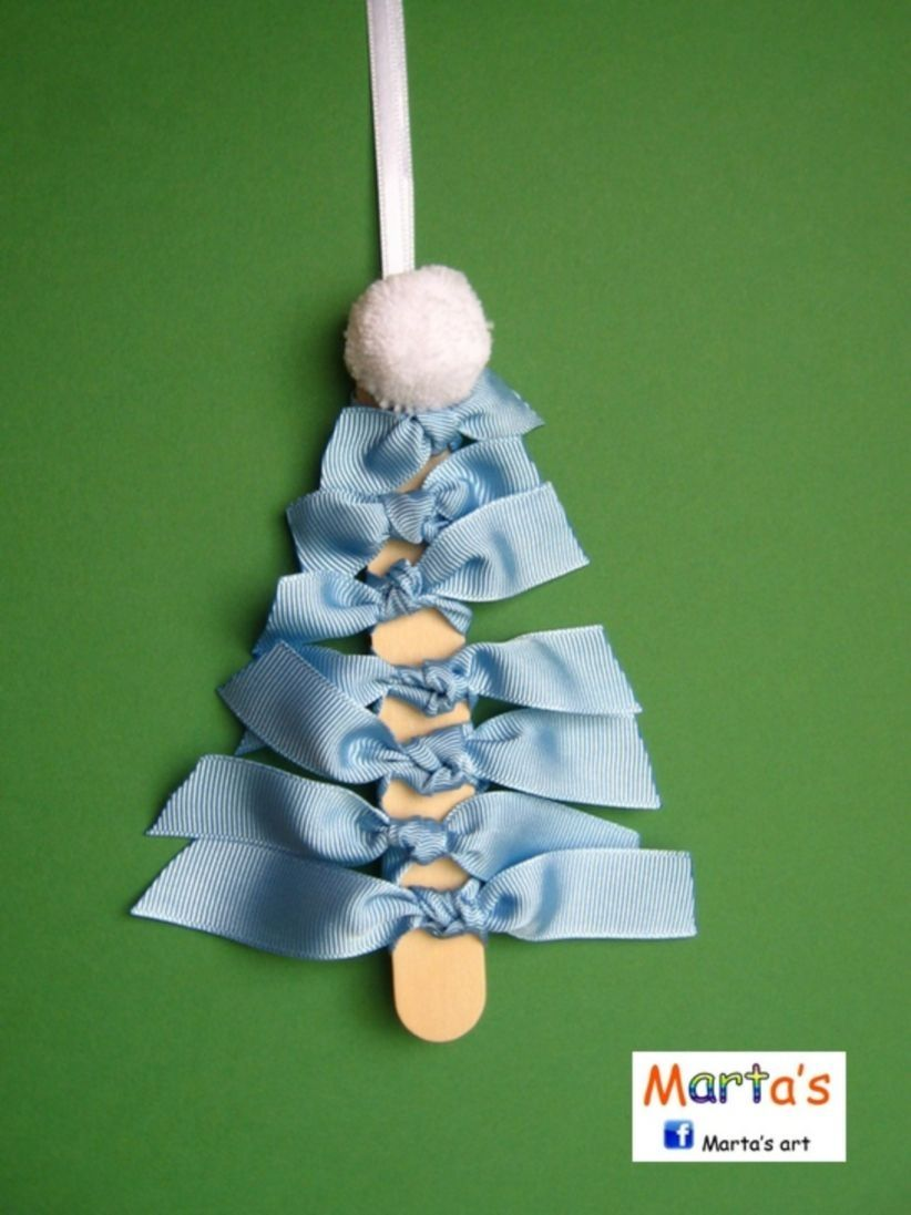 diy ribbon ornament for christmas ornament and apartments