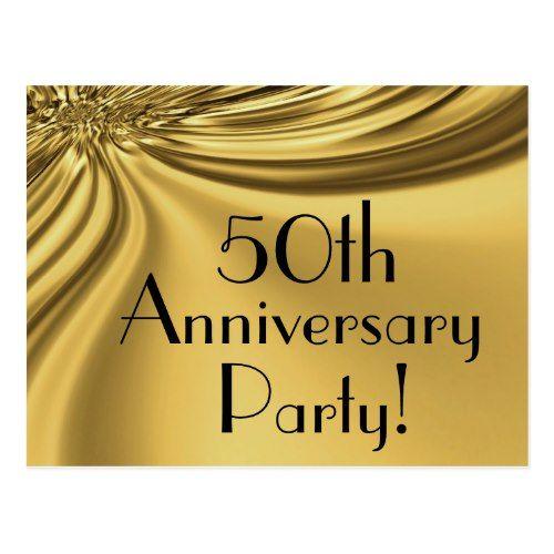 Elegant gold 50th anniversary invitation postcards 50th elegant gold 50th anniversary invitation postcards stopboris Gallery