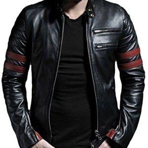 55dd4a25f7c Chupa-Cazadora de cuero para hombre en negro - DeCueroOnline.com ...