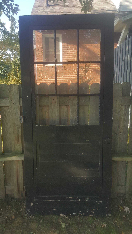 Remodelaholic How To Add A Glass Pane To A Wood Door Diy Door Laundry Room Doors Old Wood Doors
