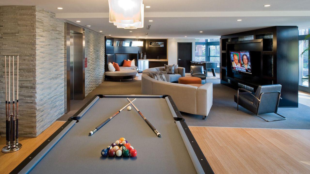 Billiards Room  Billiards Universe  Pinterest  Room Men Cave New Pool Table Living Room Design Inspiration Design