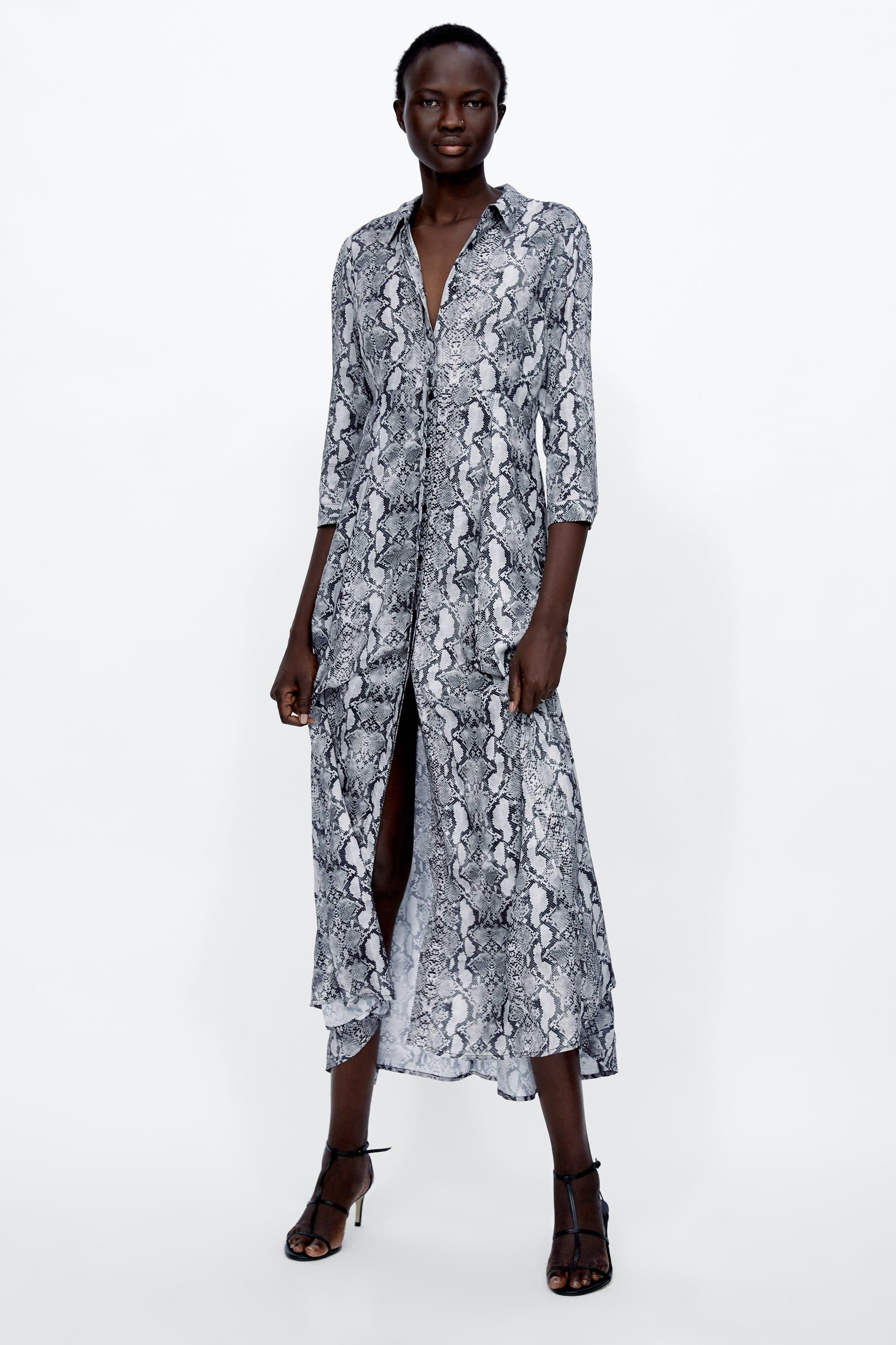 3ead8aa0 Snakeskin print shirt dress in 2019 | Another Suitcase In Another ...