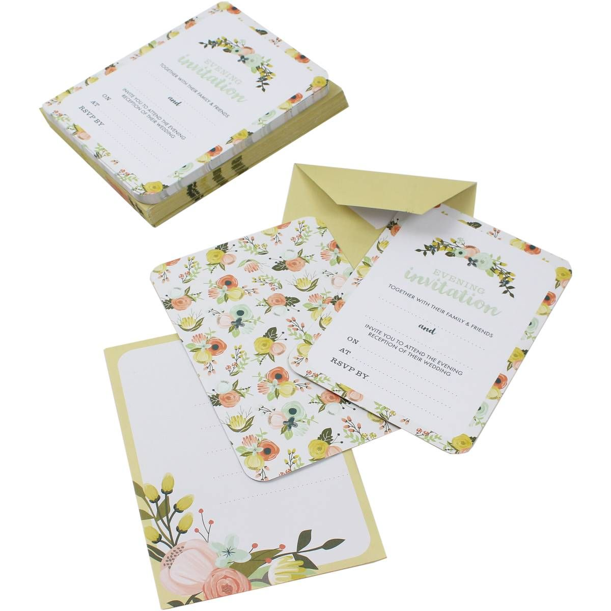 All You Need is Love Evening Invitations and Envelopes 25 Pack ...