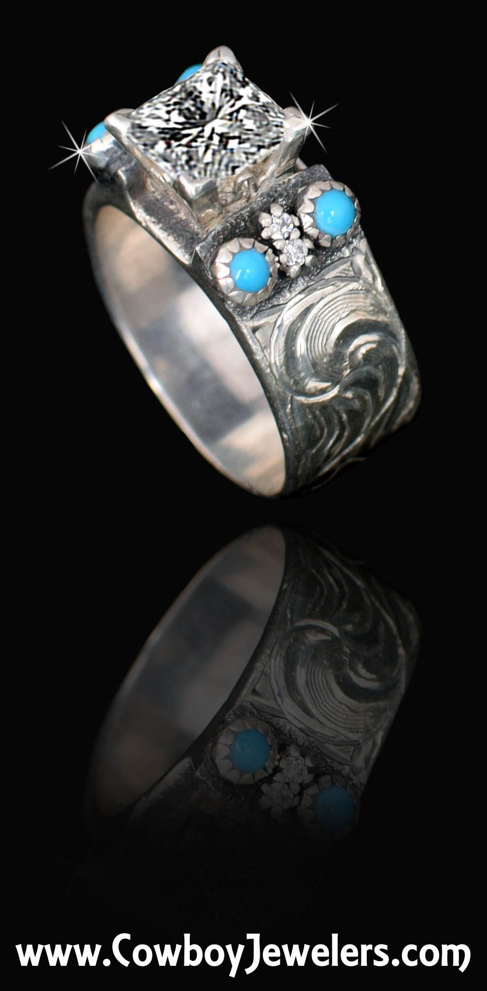 rings vintage cowgirl engagement diamond ring magazine european a fit cowboy antique jewelry for opal