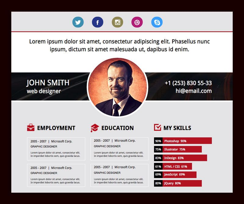 Muse Resume Template Website Resume Pinterest Adobe and Template - website resume template