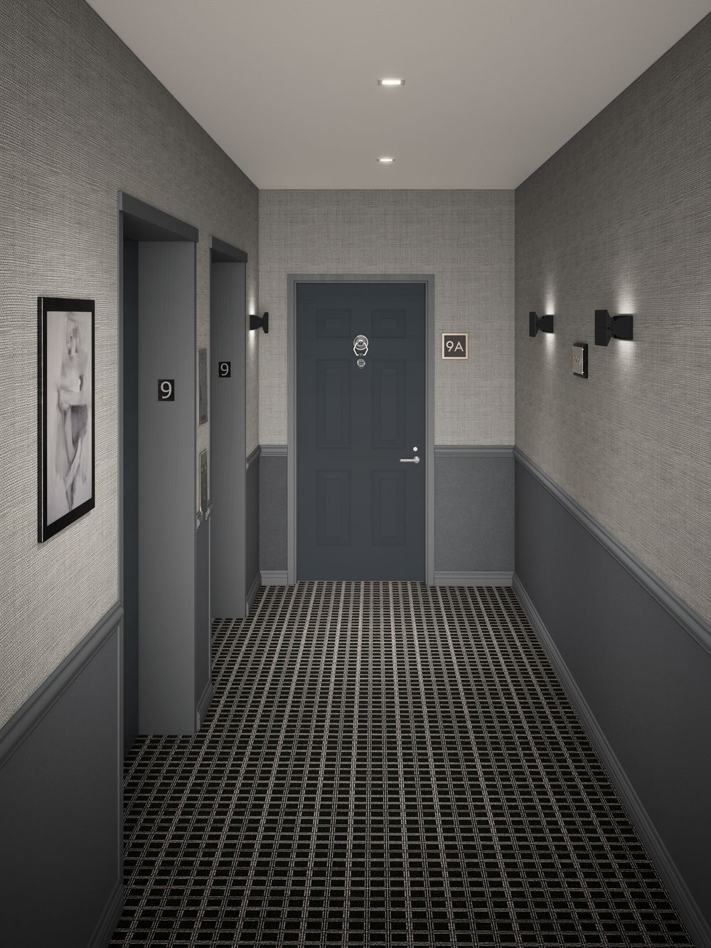 16 Hallway Interior Design Ideas: Murray St Tribeca Condo Hallway